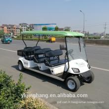 Chariot de golf électrique de 4kw avec la boîte de cargaison / bonne qualité chariot de golf de service de 6 sièges avec le pneu hors route à vendre