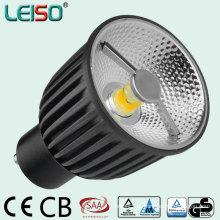 Luz do diodo emissor de luz do projeto 6W 400lm GU10 do refletor da ESPIGA do alojamento de Alumium