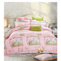 100% cotton reactive print nuevo juego de cama de diseño animal del gato funda de edredón conjunto