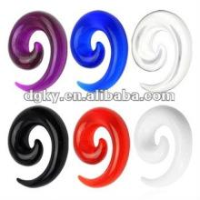 Acrylic ear spiral taper piercing ear tunnel jewelry body piercing jewelry