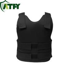 Chaleco antibalas de Kevlar ocultable negro Camisa cómoda y ligera NIJ IIIA para protección personal