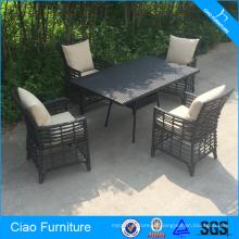 Wicker Outdoor Furniture Sunroom Dining Set