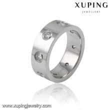 13974 Moda Cool Cubic Zirconia Aço Inoxidável Jóias Anel de Dedo para Homens