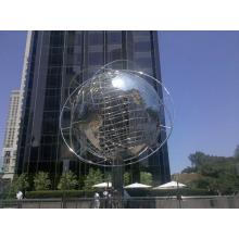 outdoor garden decoration 304 stainless steel globe sculpture
