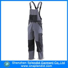 Guangdong Workwear Garment Work Bib Pants with Knee Pad