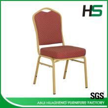 Diseño elegante simple silla de comedor de metal para jardín