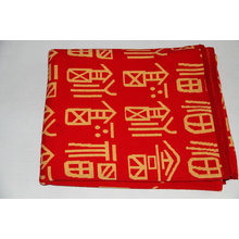 winter double side cashmere red blanket