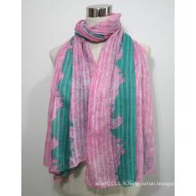Lady Fashion imprimé écharpe en soie de viscose (YKY1031)
