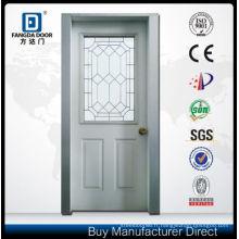 Porte vitrée en acier solide Fangda Door