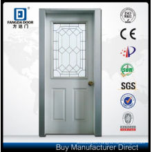 Fangda Door Solid Core Steel Glass Door