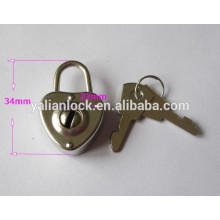Best Sell Metal Heart Shaped Padlock for Notebook