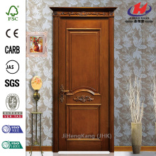 JHK-017 India Turkey Burma Teak Wood Price Burma Euro Carved Wood Panels Interior Door