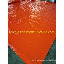 Orange Polythylene Tarpaulin Cover