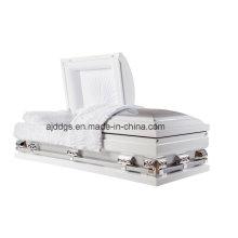 Caixão branco e prata (tamanho grande)