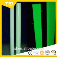Brillo en la oscuridad Película / película fotoluminiscente en PET, PVC, Acrílico
