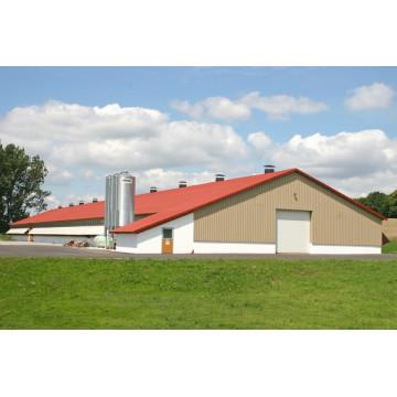Maison d'oiseau de volaille de structure métallique / maison de poulet (KXD-PCH2)