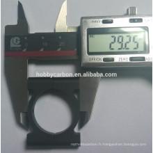 Bride ronde de tube de 30mm, pinces ajustables de tube en aluminium pour le passe-temps