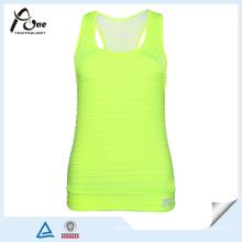 Lady Neon amarelo Tops em desgaste de Fitness em massa