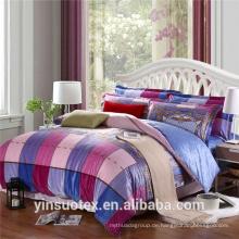 Großes Gitter 100% Polyester Bettwäsche Sets / Bettwäsche