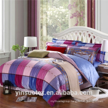 Large grid cheap 100% polyester bedding sets/ bed linen