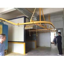 Sistema transportador de línea de recubrimiento en polvo