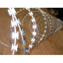 Aço inoxidável Concertina Razor Barbed Wire Fence Mesh