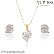 63823 High Quality Fancy Multicolor Gold Zircon Wholesale Jewelry Set
