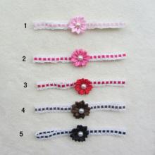 Hair Ties,Sharp Pearl Flower Lace Headband, Elastic Hair Band + Flower