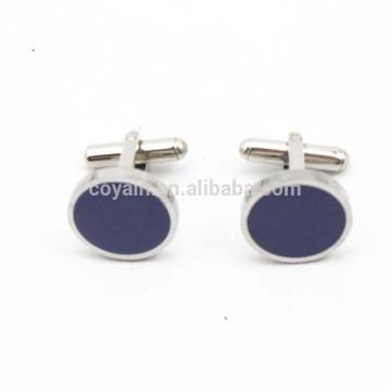 Botón redondo de encargo de la camisa de la mancuerna del metal con la piedra azul