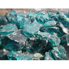 Roche de verre de scories turquoise écrasée
