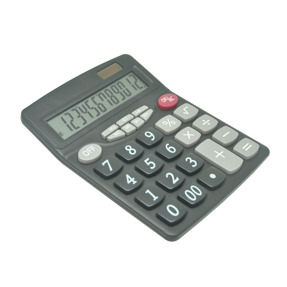 12 Digits Two Way Power Desktop Office Calculator