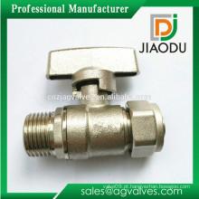 1/2 polegada niquelado alça de zinco lidar com válvula de esfera de latão fêmea para pex al pex tubos