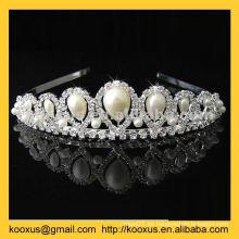 Tiara del ornamento del pelo de la boda