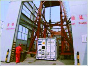 Drop test for ISO Standard Generator Container