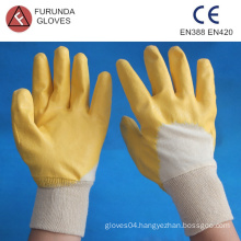 interlock lined half coated nitrile gloves
