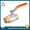 Factory Stock Messing Kugelhahn Preis TMOK Marke Größe 1/2 '' bis 1 '' BSP Thread Eisen Griffe mit PVC Kreditversicherung Unterstützung