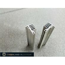 Perfis de alumínio para dissipador de calor prata anodizada