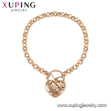 71862 Xuping simple style fancy love heart shaped bracelet gold jewelry