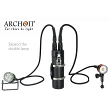 Aluminum Alloy LED Diving Torch Submarine 100meters