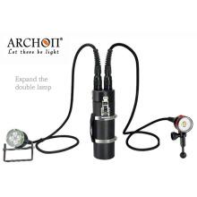 Подводный дайверский фонарик CREE LED с перезаряжаемым аккумулятором