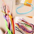 Cuerda trenzada larga multicolor para cordón y cuerda de teléfono móvil