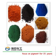 synthetic powder iron oxide red yellow blue green black orange brown pigment for acrylic paint powder coating