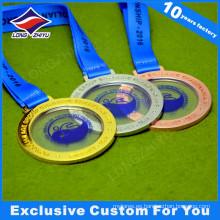 Transparent Center New Design Metal Medals