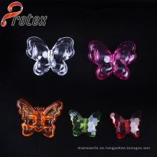 Ornamento de acrílico plástico de la decoración de la mariposa