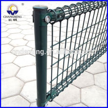 pvc coated/PE /powder coating welded wire mesh fence