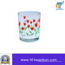 Bonne coupe de verre avec vernis à fleurs décalées Kb-Hn0733