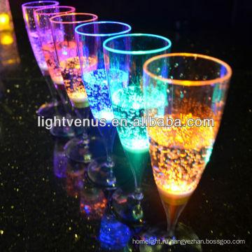 Завод Продажа романтический стекло жидкое активных шампанское LED