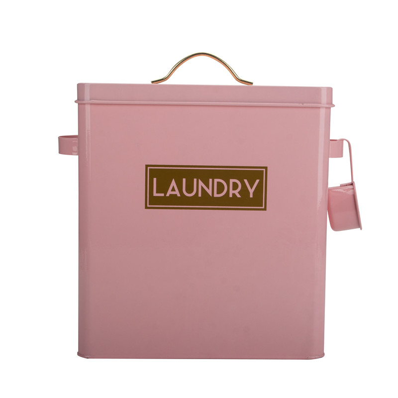 Tin Laundry Box Container