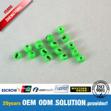 Grün gemalte Tungsten Beads Fly Fishing