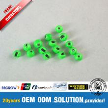Perles de tungstène peintes vertes Pêche à la mouche
